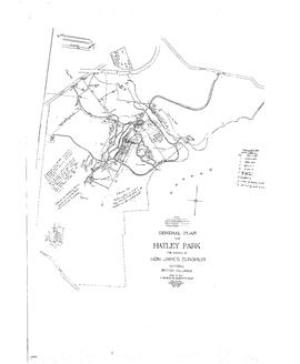 General plan for Hatley Park with annotations for power/telephone/lighting