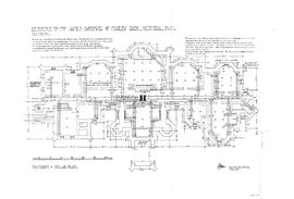 Foundation and cellar floor plan